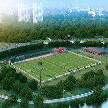 работы по проектированию и строительству стадионов и футбольных полей